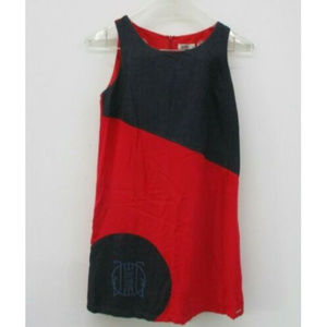 Junior Gaultier Girls Dress Size 14 Red Sleeveless